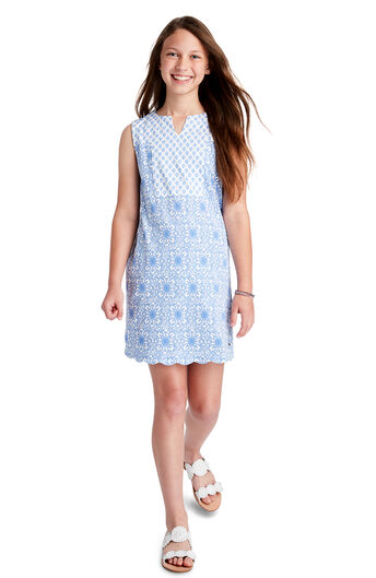 d2872baf8f8 Girls Medallion Vineyard Knit Shift Dress