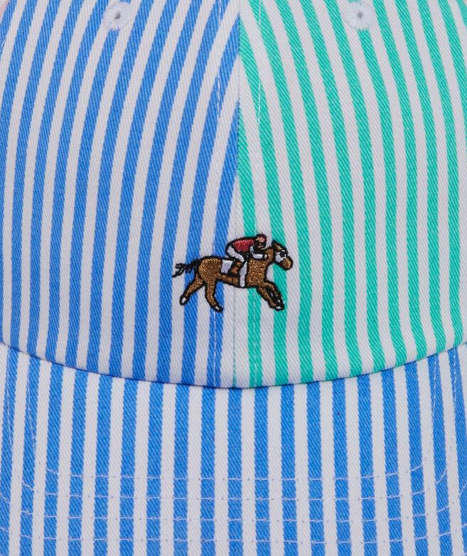 Kentucky Derby Striped Horse Baseball Hat
