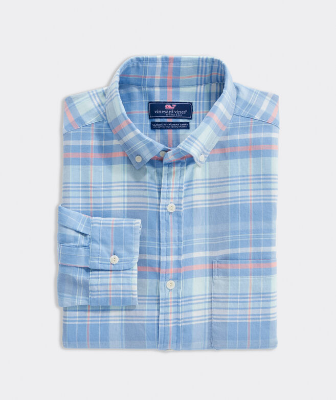Classic Fit Plaid Shirt in Island Twill