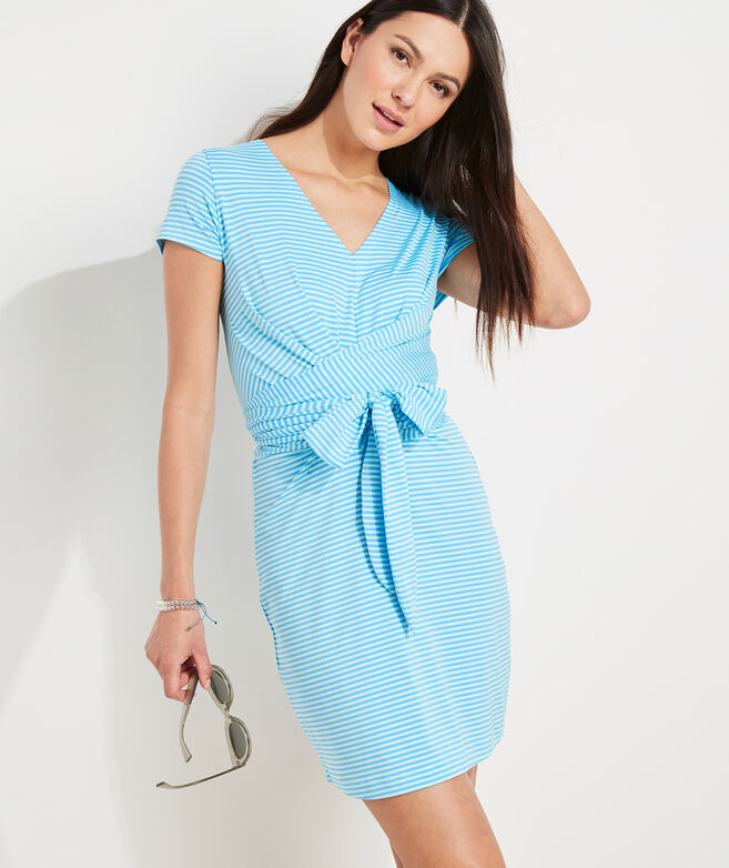 Striped Sankaty Tie Waist Dress
