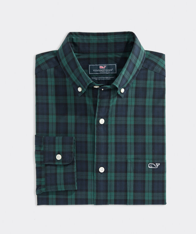 Classic Fit Blackwatch Poplin Tucker Shirt