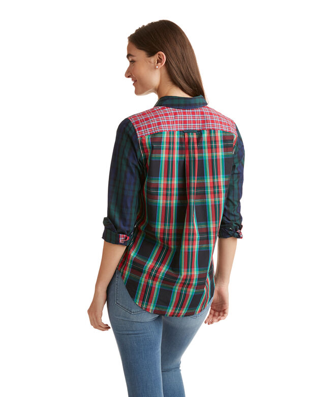 6592253e11 Holiday Plaid Party Relaxed Button Down