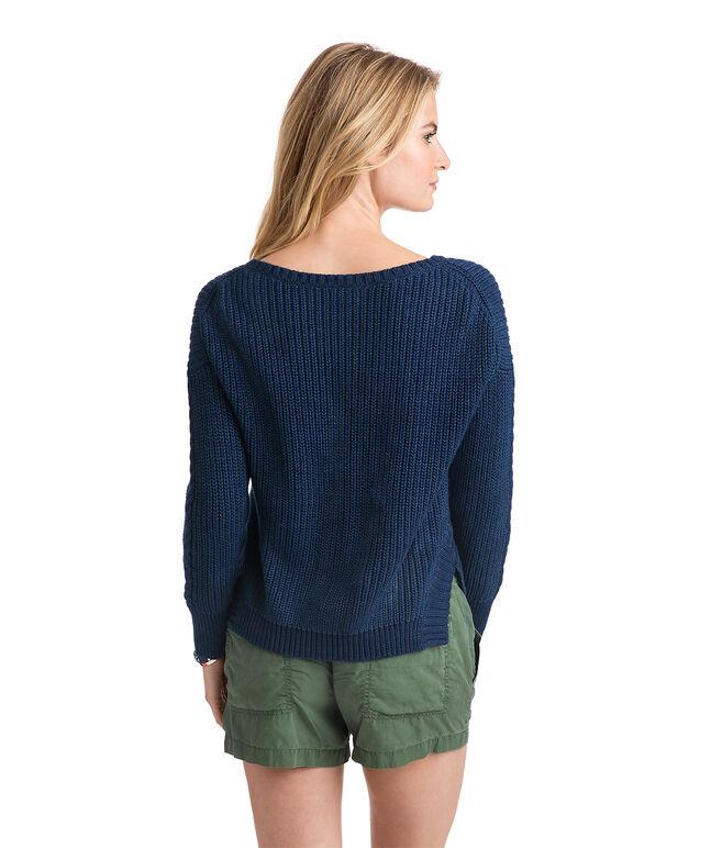 Indigo Bonfire Pullover Sweater