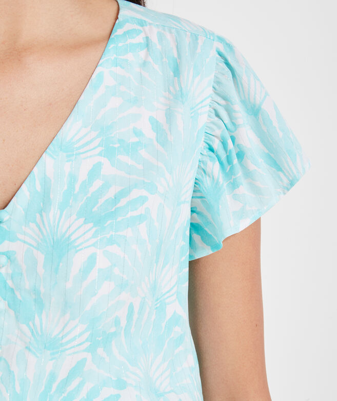 Traveling Palm Smock Waist Dress