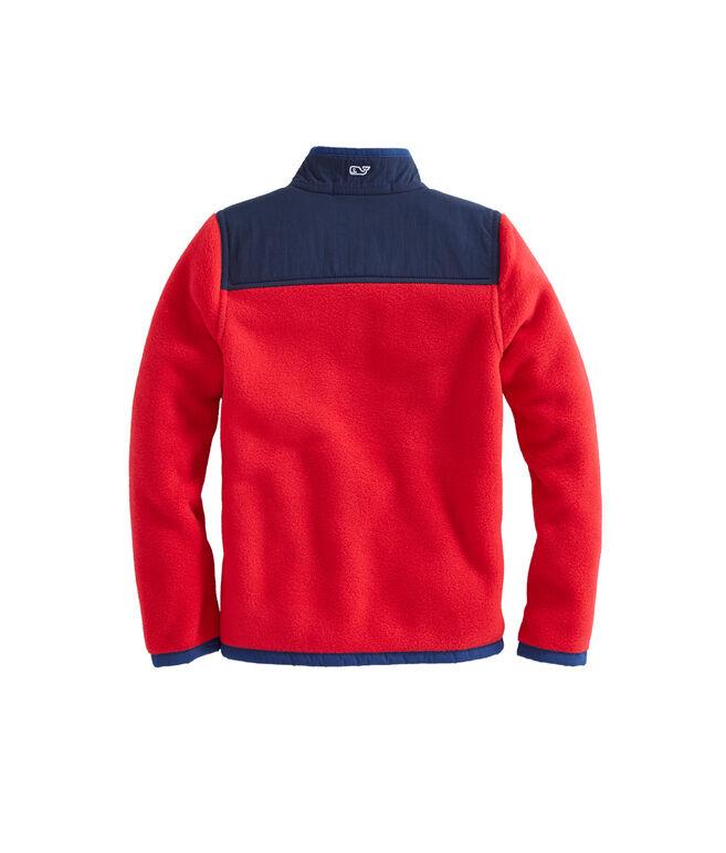 Boys Contrast Shoulder Fleece Shep Shirt