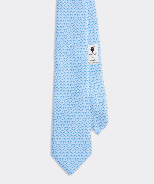 Tonal Baseball Printed Tie