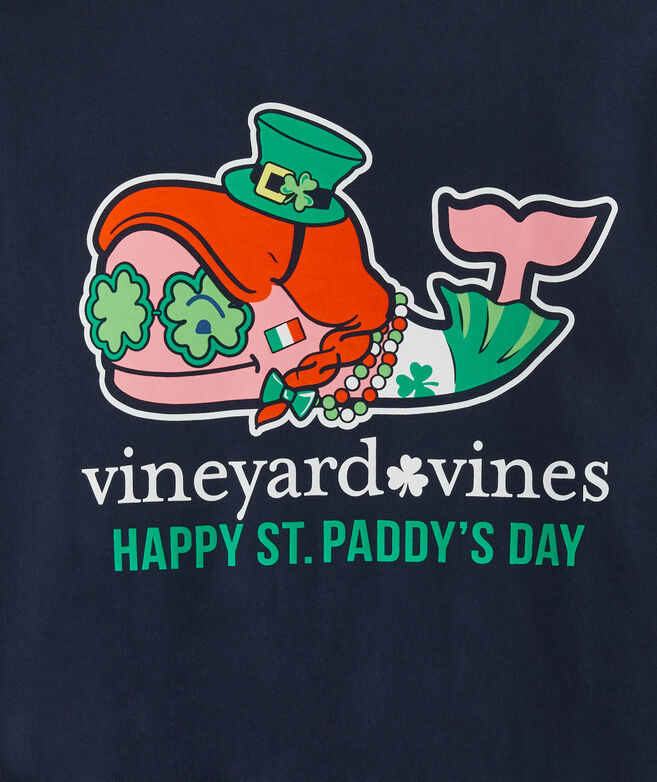 Girls' St. Paddy's Day Whale Long-Sleeve Pocket Tee