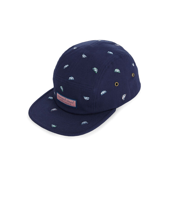 Tossed Helmet Embroided Five Panel Hat