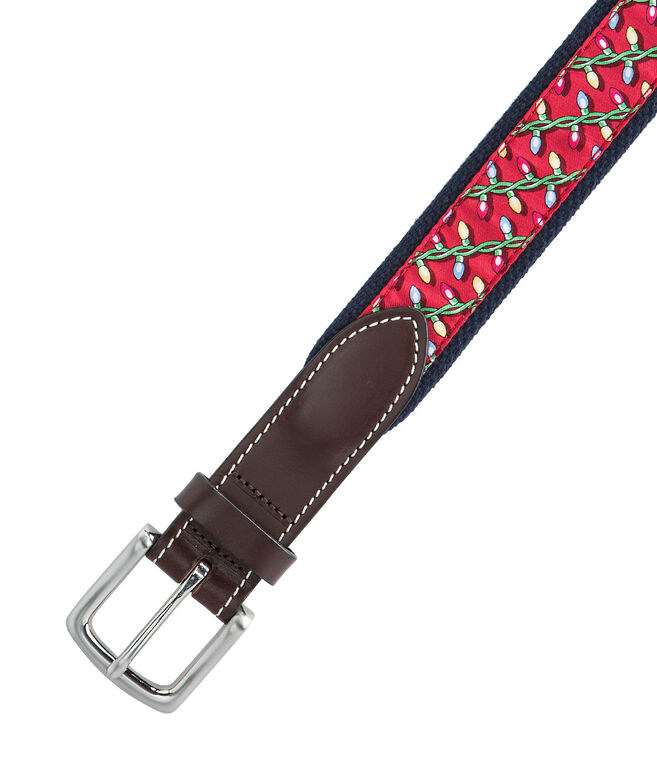 Holiday Lights Canvas Club Belt