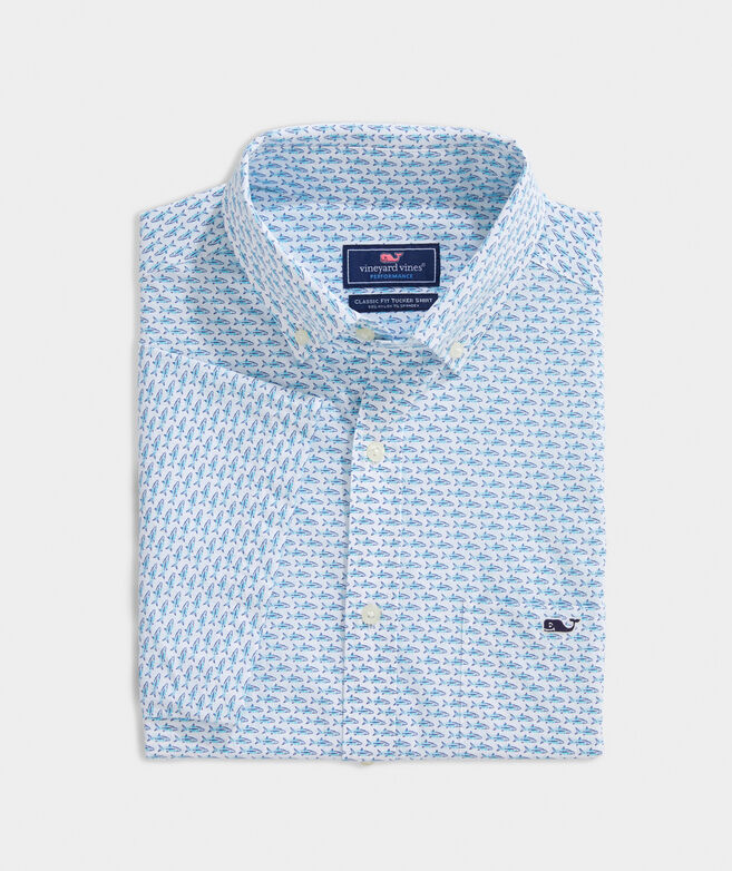 Classic Fit Mini Bonefish On-The-Go Performance Tucker Short-Sleeve Button-Down Shirt