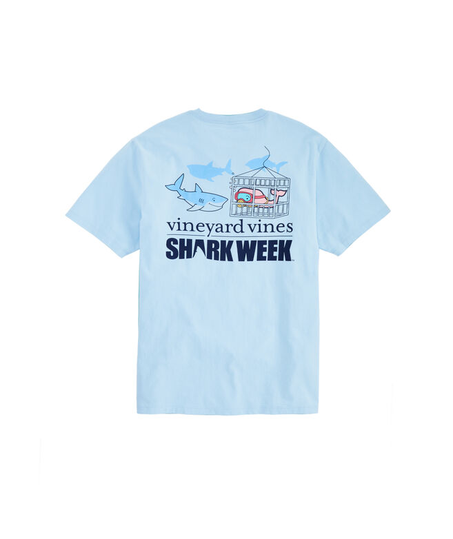 Shark Week Cage Diver Pocket T-Shirt