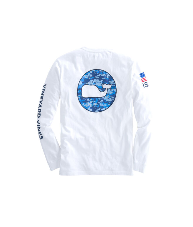 Long-Sleeve Digi Camo Whale Dot T-Shirt