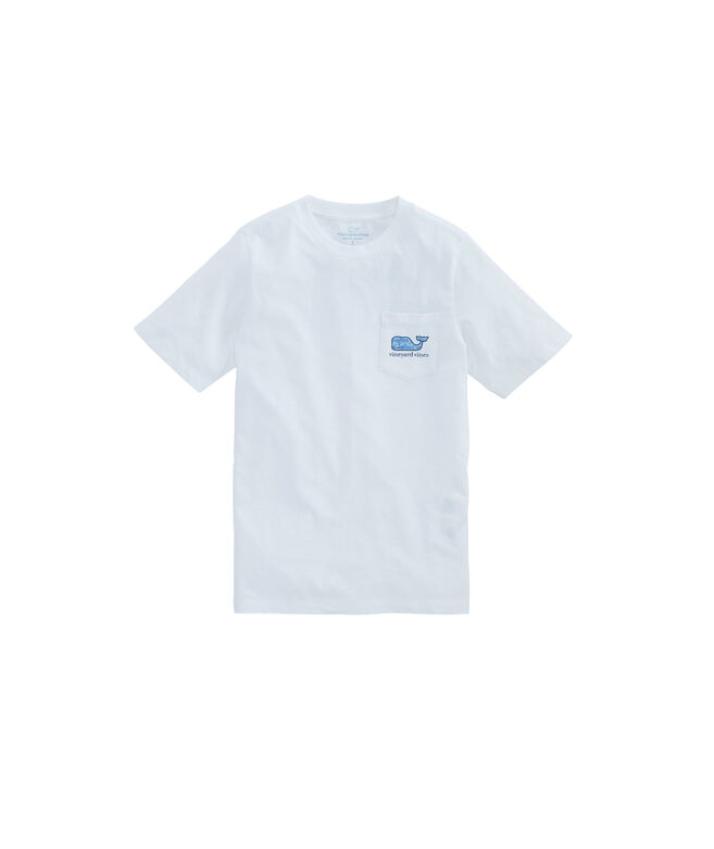 Boys Bonefish Sketch Whale Fill Pocket T-Shirt