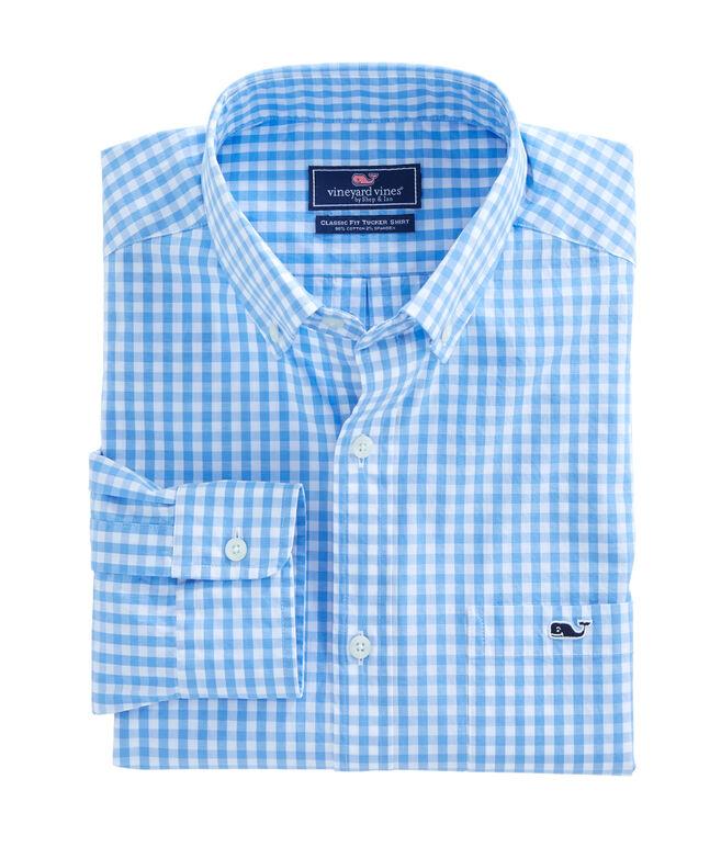 Carleton Gingham Classic Stretch Tucker Shirt
