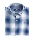 Boys Nottingham Gingham Whale Shirt