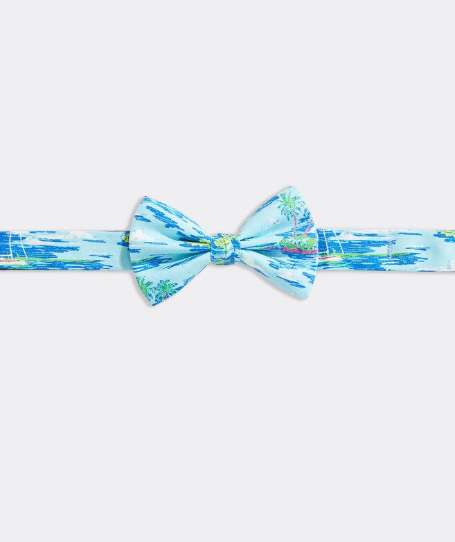 Boys' Ocean Scenic Printed Bow Tie