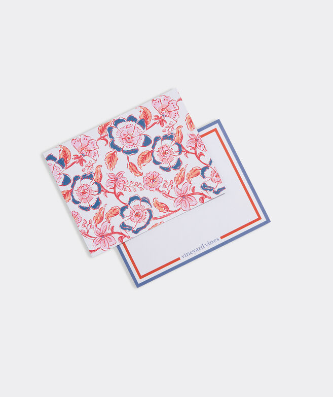 Floral Block Print Notecards