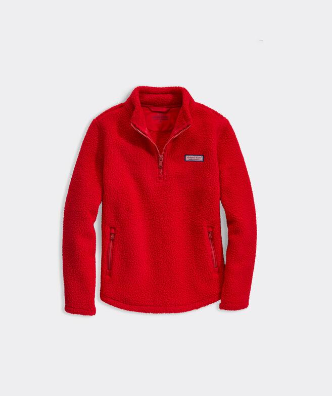 Girls' Red Sherpa 1/2-Zip Shep Shirt