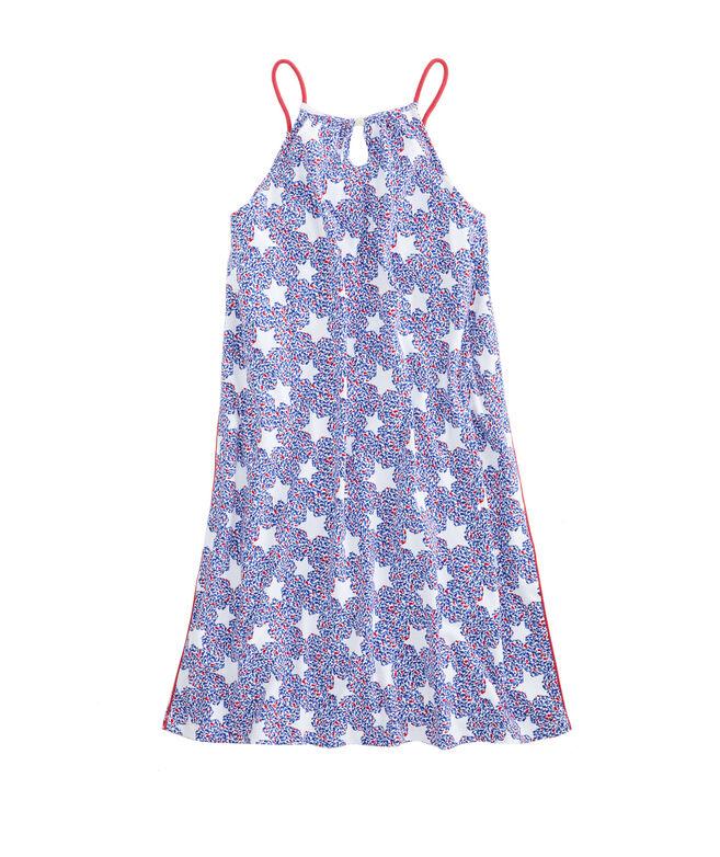 Girls Whale Star Knit Halter Dress