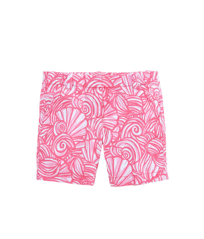 Girls Nautilus Shell Print Island Shorts