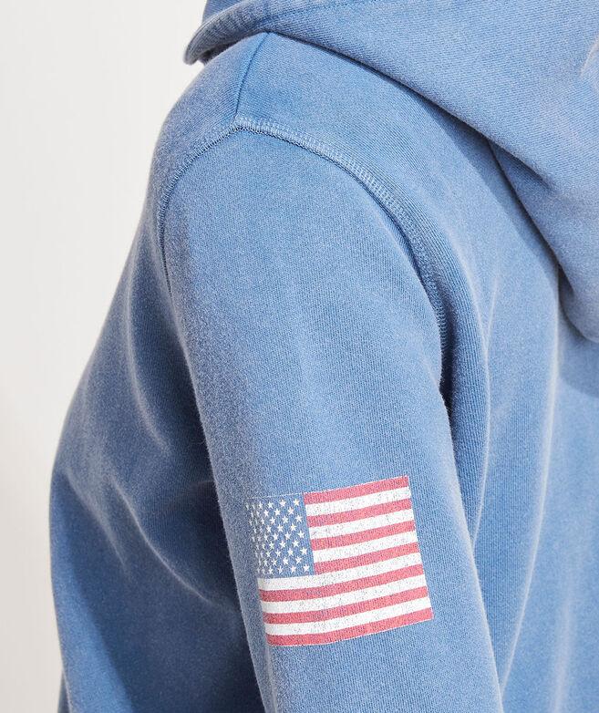 American Flag Full-Zip Hoodie