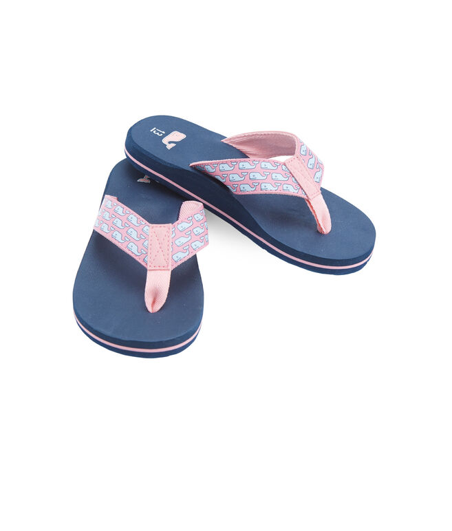 Girls Vineyard Whale Flip Flops