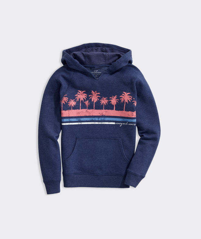 Girls' Palm Stripe Graphic Hoodie