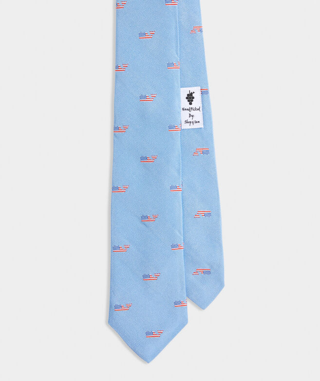 Flag Whale Kennedy Tie