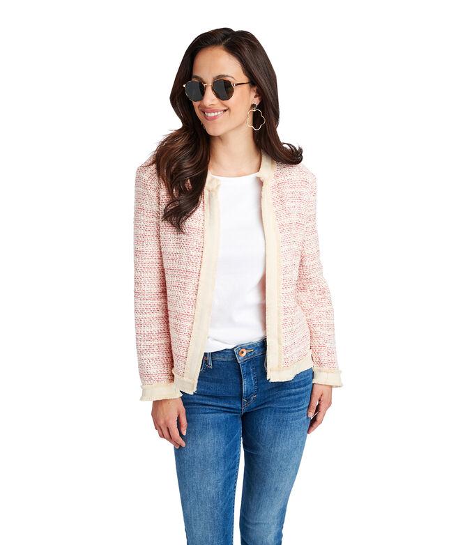 Textured Fringe Jacket