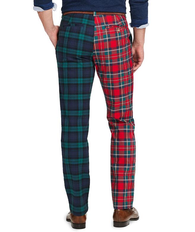 Slim Party Plaid Pants
