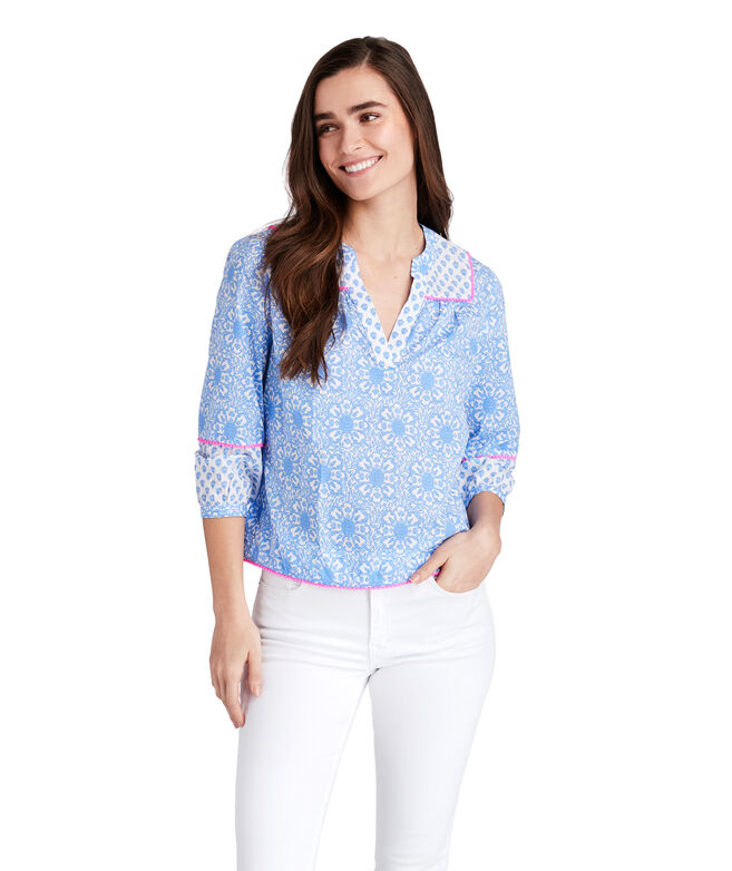 Tile Medallion Print Max Top