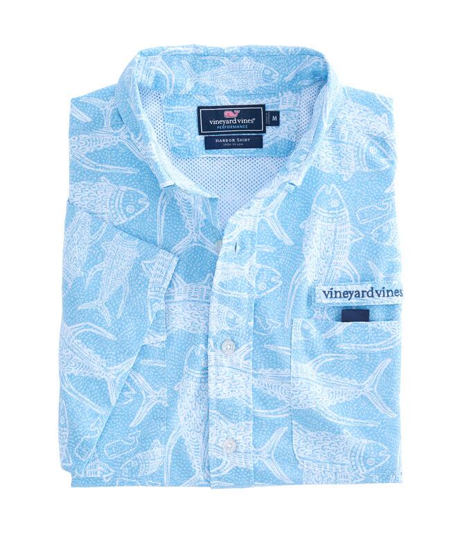Short-Sleeve Tuna Batik Harbor Shirt
