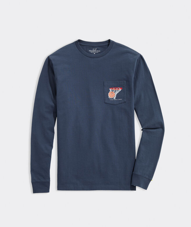 Buckets Long-Sleeve Pocket Tee