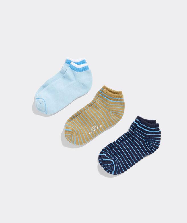Stripe Athletic 3-pack Sock Set
