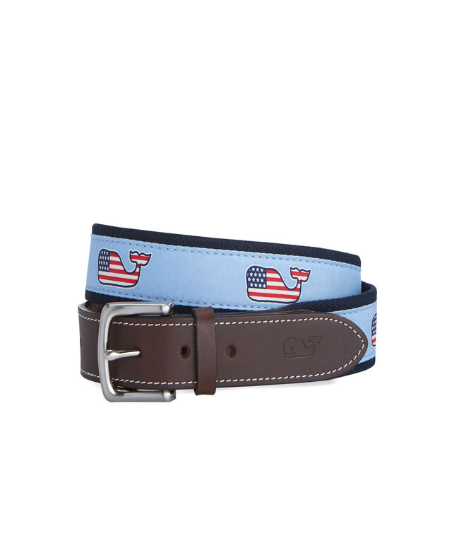 Flag Whale Canvas Club Belt