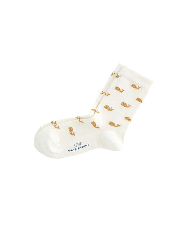 Womens Sparkle Whale Socks