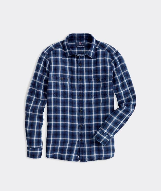 Island Double Cloth Plaid Shirt