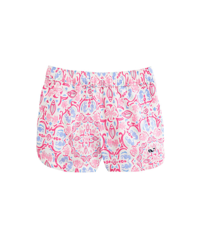 OUTLET Girls' Seahorse Medallion Print Pull-On Shorts