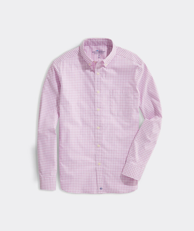Classic Fit Gingham On-The-Go Shirt In Performance brrr°