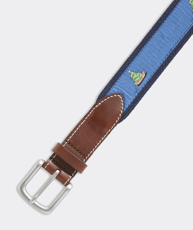 Boys' Boat & Tree Canvas Club Belt