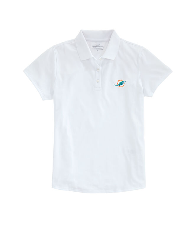 Miami Dolphins Womens Performance Pique Stretch Polo