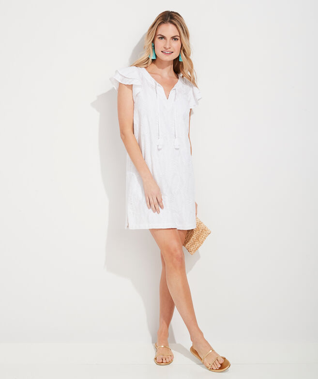 Embroidered Palm Vineyard Tunic Dress