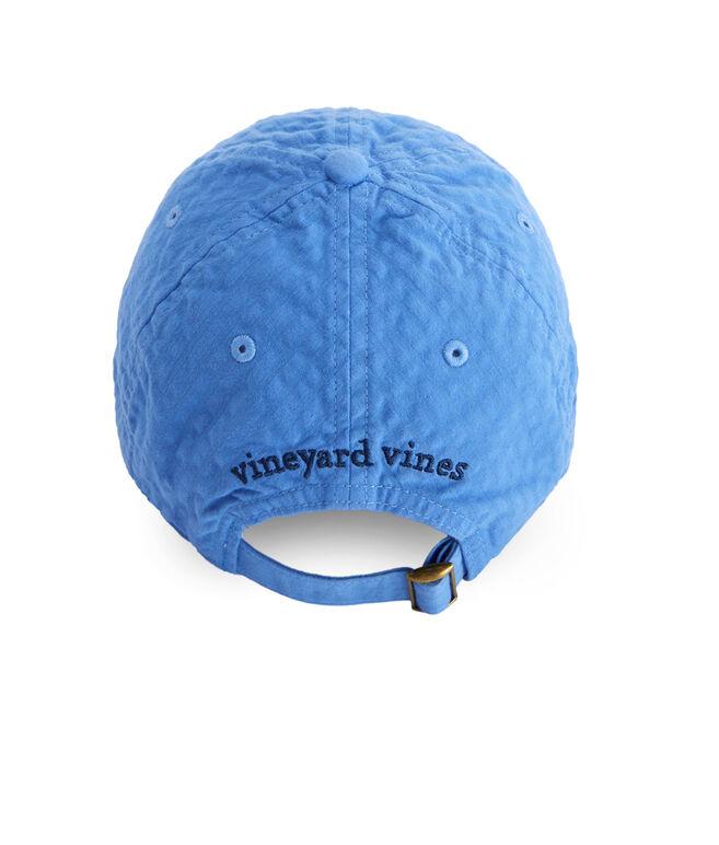 Womens Classic Logo Seersucker Baseball Hat