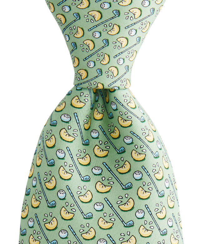 Boys New Lemon Wedge Printed Tie