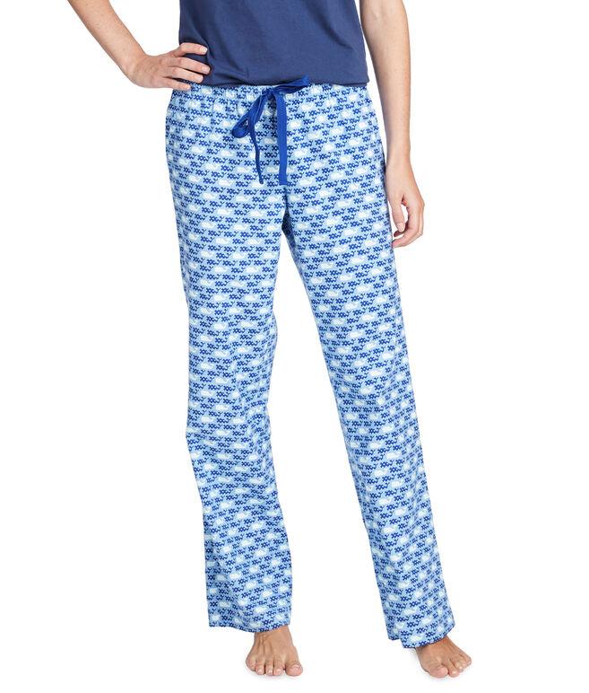 Dots & Stripes Whale Flannel Lounge Pants
