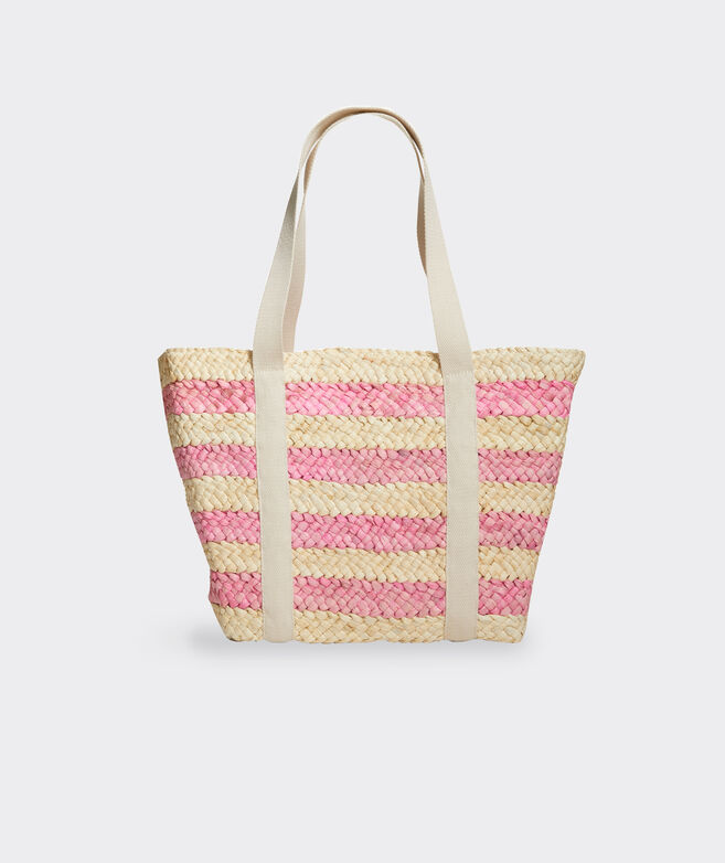 Striped Straw Classic Tote Bag