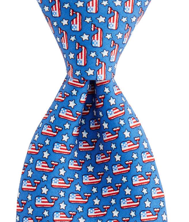 Stars & Whales Printed Tie