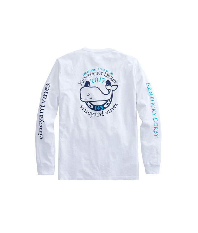 Long-Sleeve Kentucky Derby Logo 2017 Pocket T-Shirt