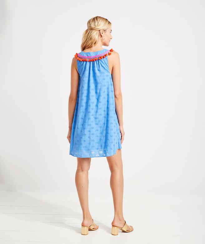 Sunset Palm Tassel Dress