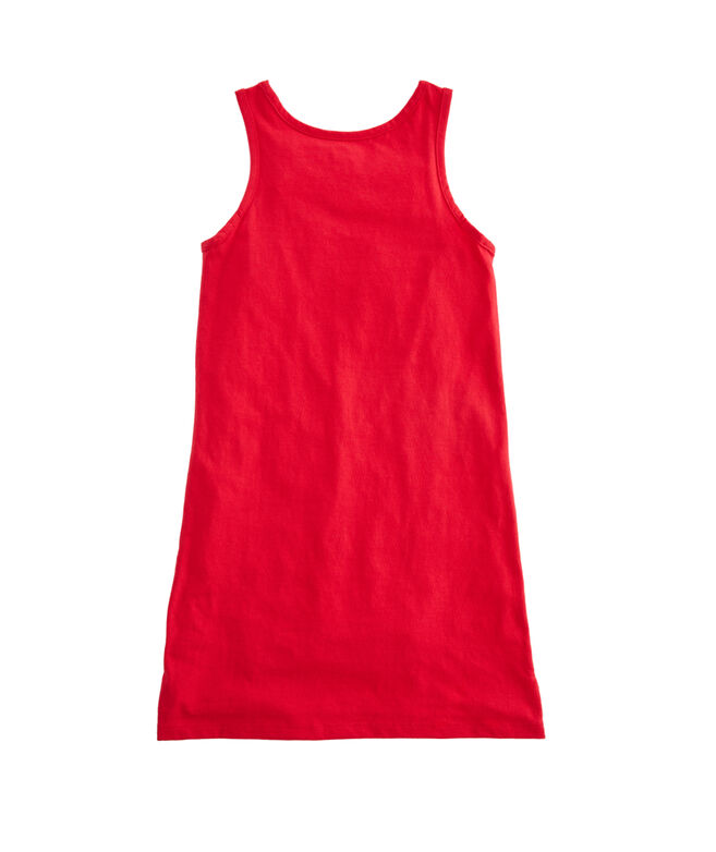 Girls Simple Pocket Tank Dress